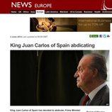 La abdicación del Rey en la BBC