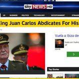 La abdicación del Rey en Sky News