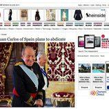 La abdicación del Rey en The Independent