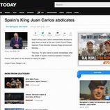 La abdicación del Rey en USA Today