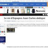 La abdicación del Rey en Le Figaro