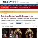 La abdicación del Rey en Die Welt