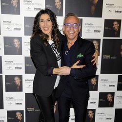Paz Padilla y Joaquín Torres en la presentación del disco de Pitingo 'Cambio de tercio'