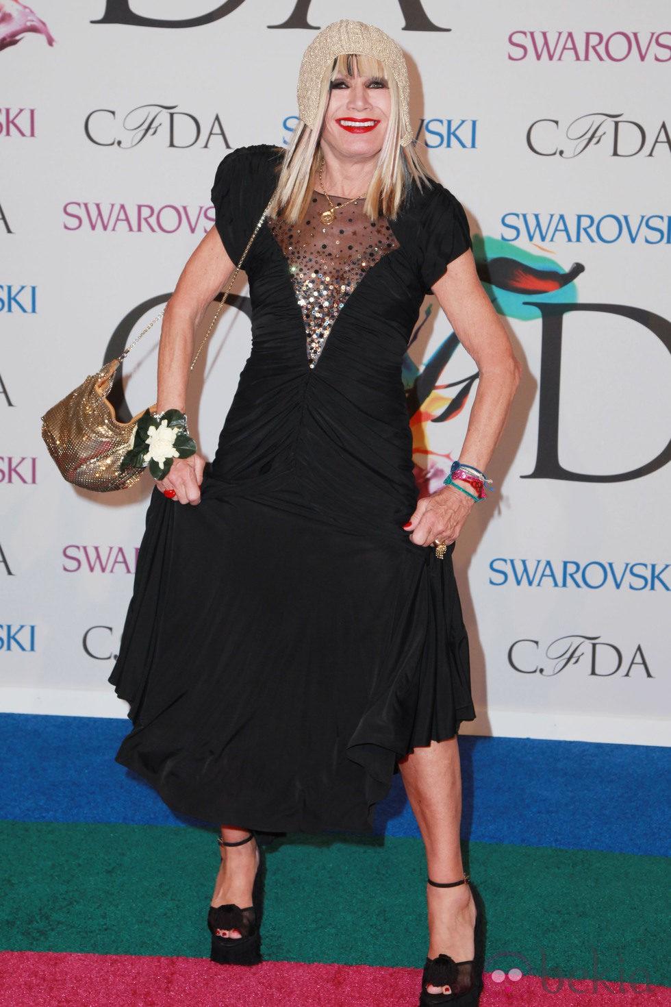 Betsey Johnson en los CFDA Fashion Awards 2014