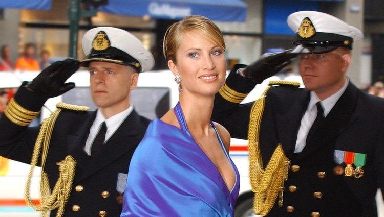 Eva Sannum en la boda de Haakon y Mette-Marit de Noruega