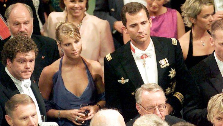 El Príncipe Felipe y Eva Sannum en la boda de los Príncipes de Noruega