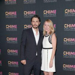 James Franco y Frida Gianinni en el aniversario de la fundación Chime For Crime