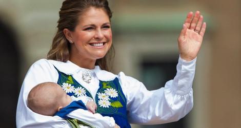 Magdalena de Suecia con la Princesa Leonor en el Día Nacional de Suecia 2014