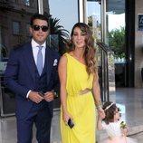 Elena Tablada con Ella Bisbal y Daniel Arguita en la boda de Elisabeth Reyes y Sergio Sánchez