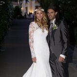 Elisabeth Reyes y Sergio Sánchez el día de su boda