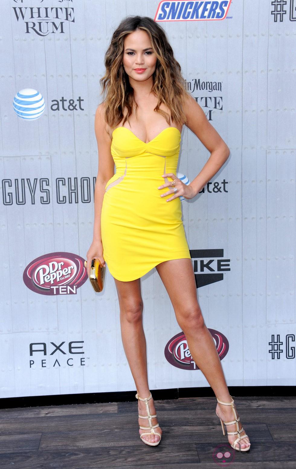 Chrissy Teigen en los premios Guys Choice 2014