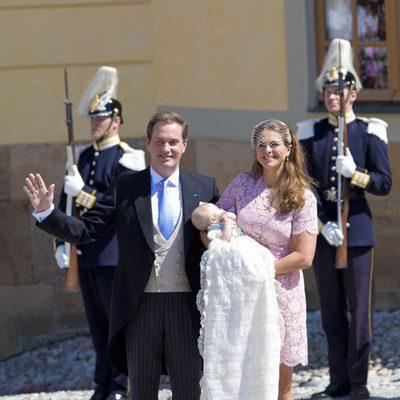 Magdalena de Suecia y Chris O'Neill tras bautizar a su hija Leonor