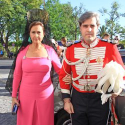 Miguel Ángel Solís con su madre Carmen Tello el día de su boda
