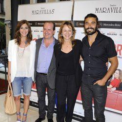 Maribel Verdú, Fernando Cayo, Emma Suárez y Álex García en el estreno de la obra de teatro 'El Nombre'