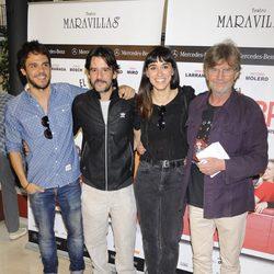 Bart Santana, Antonio Hortelano y Eloy Arenas en el estreno de la obra de teatro 'El Nombre'