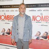 Gonzalo de Castro en el estreno de la obra de teatro 'El Nombre'