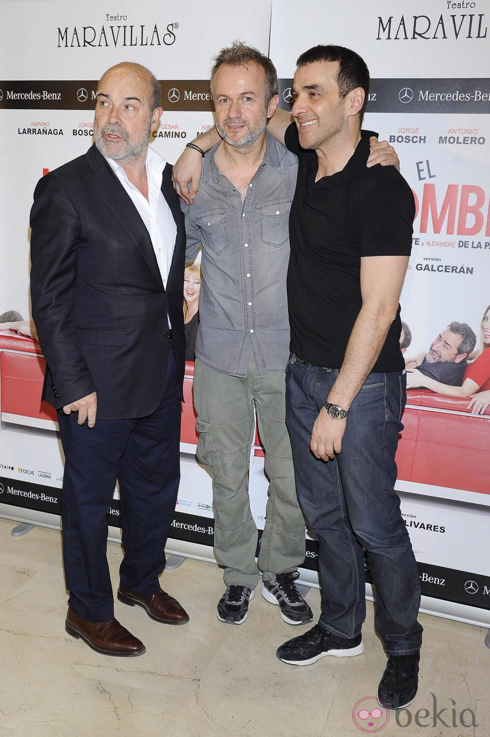 Antonio Resines, Tristán Ulloa y Luis Merlo en el estreno de la obra de teatro 'El Nombre'