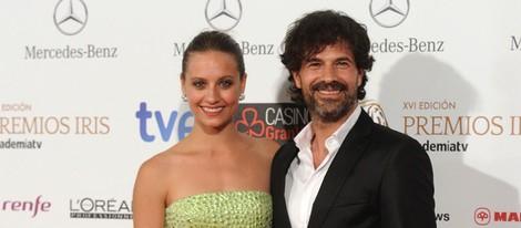 Michelle Jenner y Rodolfo Sancho en la entrega de los Premios Iris 2014