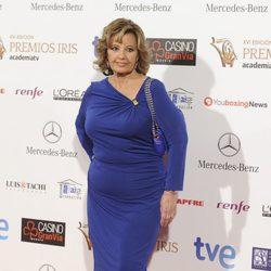 María Teresa Campos en la entrega de los Premios Iris 2014