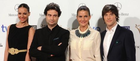 Eva González y el jurado de 'Masterchef' en la entrega de los Premios Iris 2014