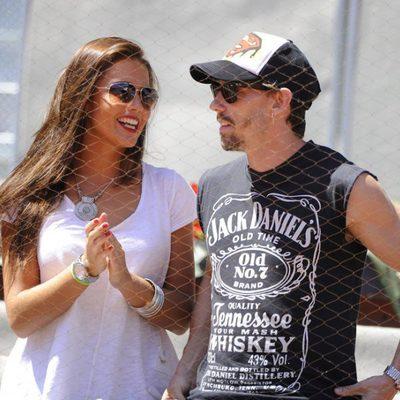Lara Álvarez y Adrián Lastra en el Madrid Open 2014