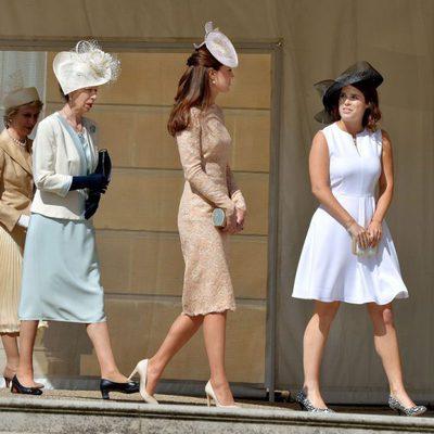 Ana de Inglaterra, Kate Middleton y Eugenia de York en una Garden Party