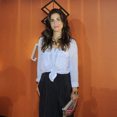 Nuria Roca en la inauguración de Atresmedia Café en Madrid