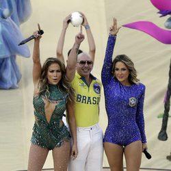 Jennifer Lopez, Pitbull y Claudia Leitte en la inauguración del Mundial 2014