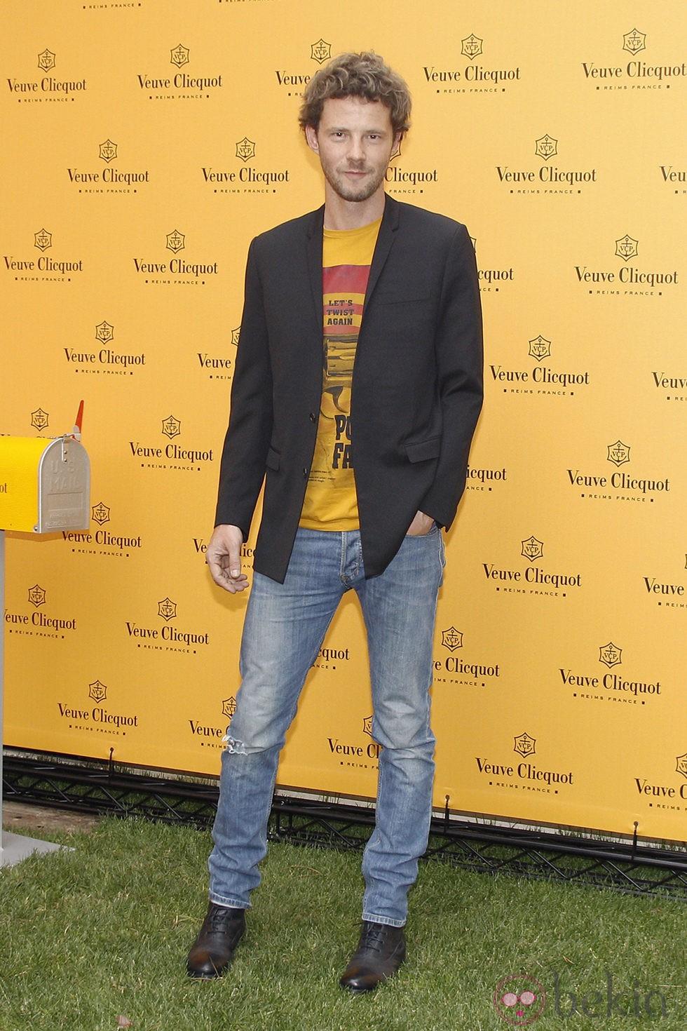 Eloy Azorín en la fiesta de Veuve Clicquot