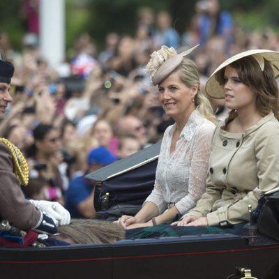 Los Condes de Wessex y Eugenia de York en Trooping the Colour 2014