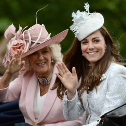 Camilla Parker y Kate Middleton en Trooping the Colour 2014