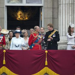 La Familia Real Británica en Trooping the Colour 2014