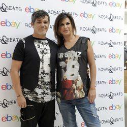 Alejandro Sanz y Raquel Perera en la presentación de su firma de ropa 'Rosas&Beats'