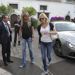 Melanie Griffith llega a la ciudad italiana de Taormina