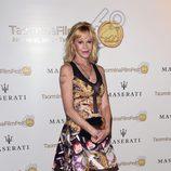 Melanie Griffith se tapa el tatuaje de Antonio en el Festival de Cine de Taormina.