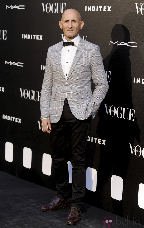 Modesto Lomba en la entrega del premio Vogue Who's on Next 2014