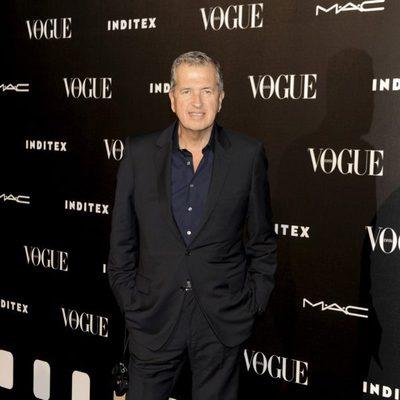 Mario Testino en la entrega del premio Vogue Who's on Next 2014