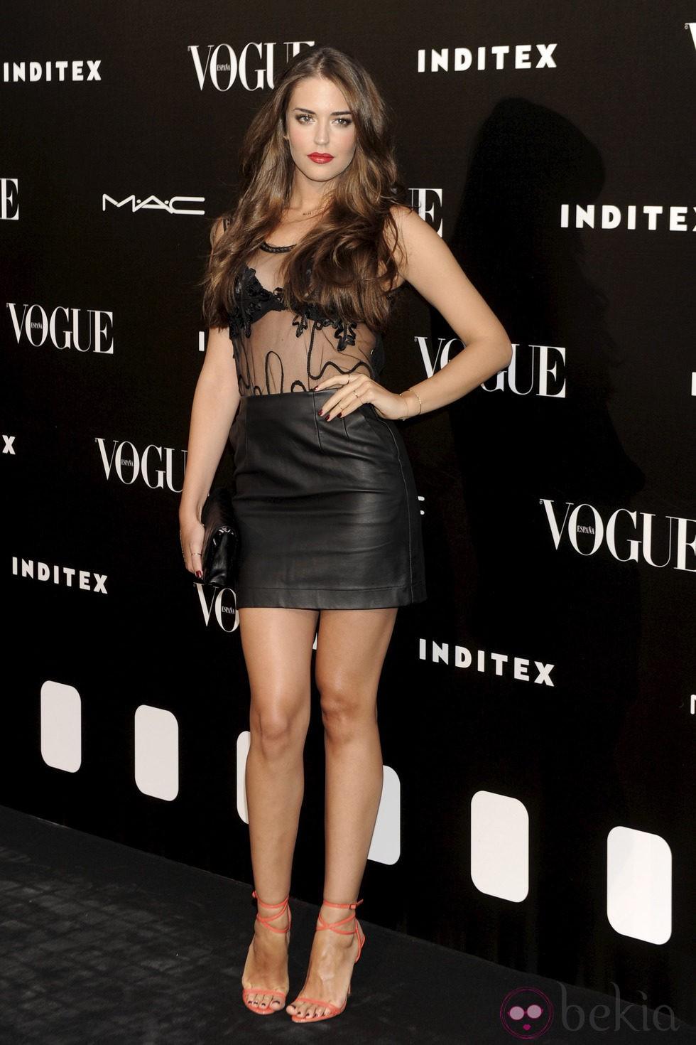Clara Alonso en la entrega del premio Vogue Who's on Next 2014