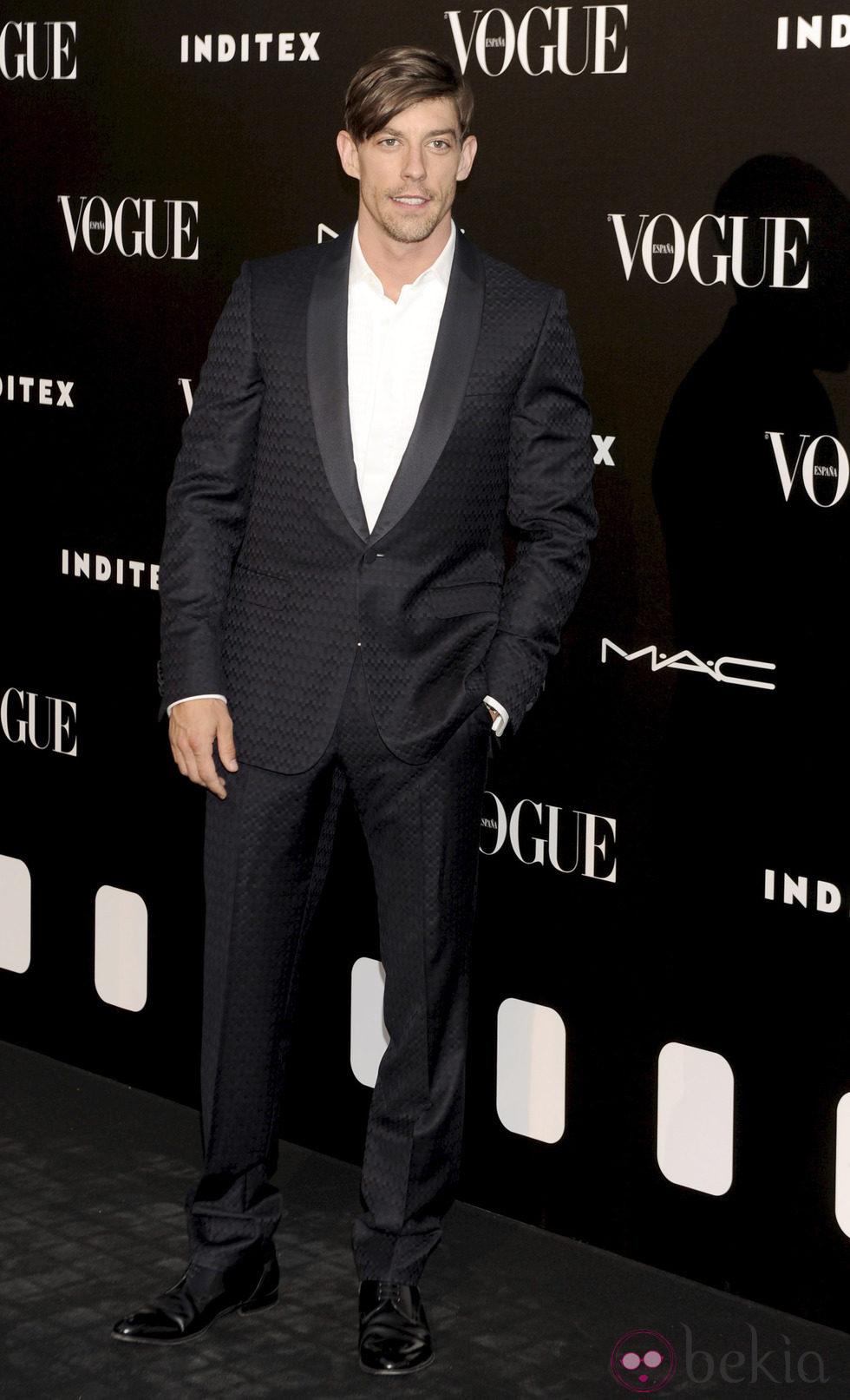 Adrián Lastra en la entrega del premio Vogue Who's on Next 2014