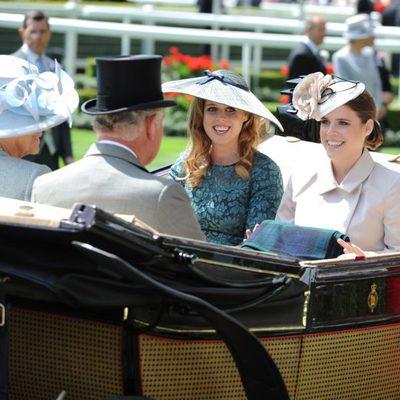 Las Princesas de York, el Príncipe Carlos y Camilla Parker en Ascot 2014