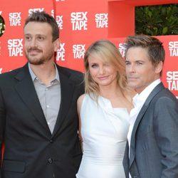 Jason Segel, Cameron Díaz y Rob Lowe en el estreno de 'Sex Tape' en Barcelona