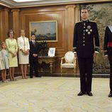 Los Reyes de España posan junto a la Reina Sofía, el Rey Juan Carlos, la Princesa Leonor, y las infantas Sofía y Elena