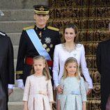 La Familia Real durante la proclamación de Felipe VI como Rey de España