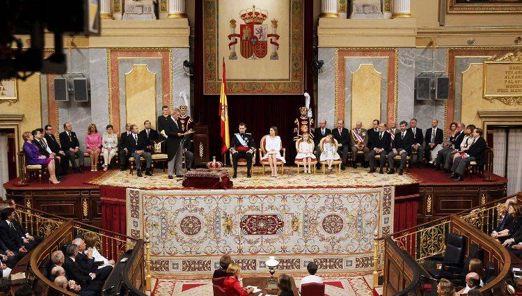 Congreso de los Diputados durante la proclamación de Felipe VI como Rey de España
