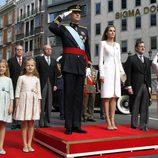 La Familia Real momentos antes de la proclamación de Felipe VI como Rey de España