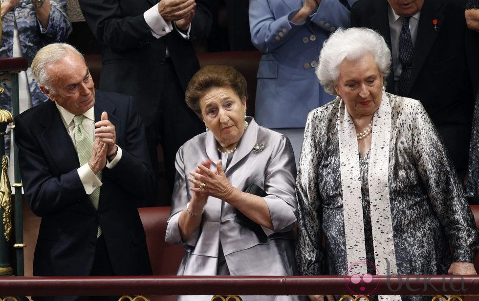 Los Duques de Soria y la infanta Margarita en el primer discurso de Felipe VI como Rey de España