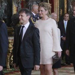 José Mota y Patricia Rivas en la primera recepción de los Reyes Felipe y Letizia