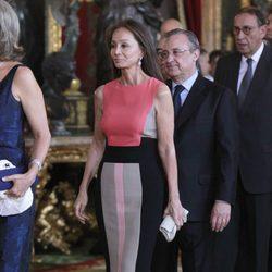 Isabel Preysler y Florentino Pérez en la primera recepción de los Reyes Felipe y Letizia