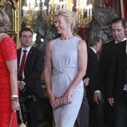 Ana Duato en la primera recepción de los Reyes Felipe y Letizia