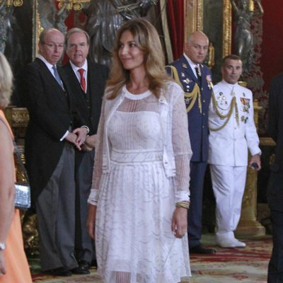 Mariló Montero en la primera recepción de los Reyes Felipe y Letizia